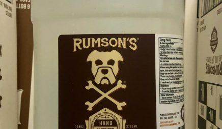 Rumson's Hand Sanitizer w/4 pumps